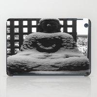 buddah iPad Cases featuring Snowy Buddah by Nearlycanadian