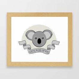 100% Koalafied Framed Art Print