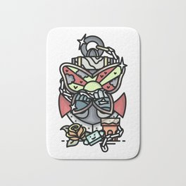 anchor and buttefly Bath Mat