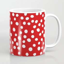 Red and white doodle dots Coffee Mug
