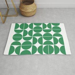 Mid Century Modern Geometric 04 Green Rug