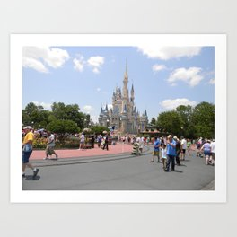 Disney Land. Art Print