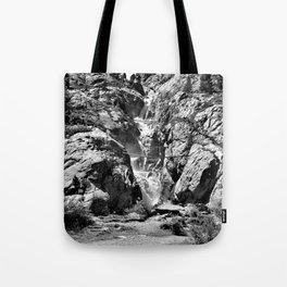 waterfall rope bridge kaunertal alps tyrol austria europe black white 2 Tote Bag
