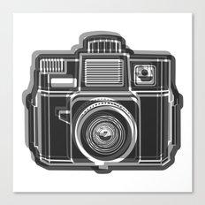I Still Shoot Film Holga Logo - Black and White Canvas Print
