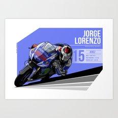 Jorge Lorenzo - 2015 Jerez Art Print