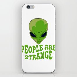 Be strange even in the outer space with this unique and creepy tee design! Makes a nice gift too!  iPhone Skin