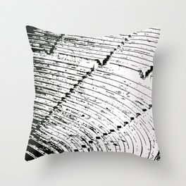 Steps stamp Throw Pillow