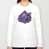 tinker bell Long Sleeve T-shirts featuring Sihouette Tinker Bell by Katie Simpson a.k.a. Redhead-K