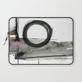Enso Abstraction No. 112 by Kathy morton Stanion Laptop Sleeve