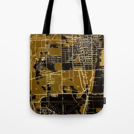 Fort Lauderdale old map year 1949, united states old maps Tote Bag