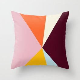 Multicolor Triangles Throw Pillow