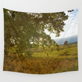 Autumn Countryside Landscape Sunset Wall Tapestry