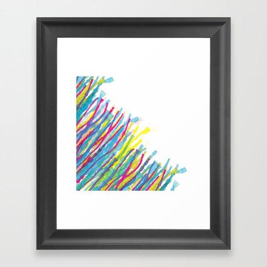 stripes in the wind Framed Art Print