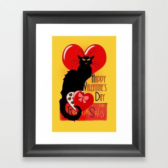Le Chat Noir Valentine Framed Art Print