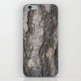 pine tree bark - scale pattern iPhone Skin
