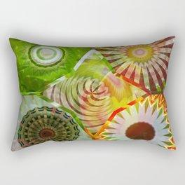 Sunny Basal Mandalas Rectangular Pillow