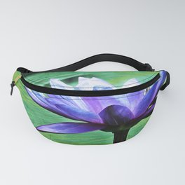 Purple Water Lily Fanny Pack