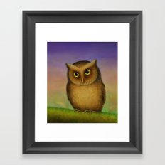 Mountain Scops Owl Framed Art Print
