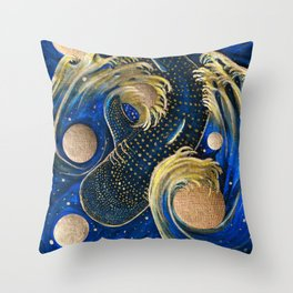 Celestial Whale Shark Throw Pillow