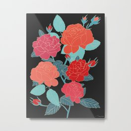 Rose Garden - Dark Metal Print