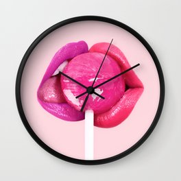 LOLLIPOP KISS Wall Clock
