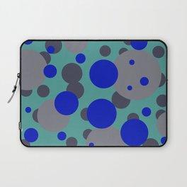 bubbles blue grey turquoise design Laptop Sleeve