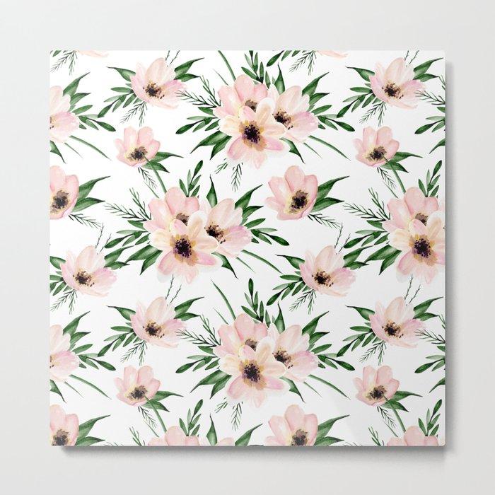 Pink bouquet. Watercolor Metal Print