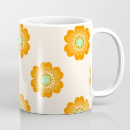 4 Sho - 70's retro 1970's throwback pattern floral flower motif decor hipster Coffee Mug