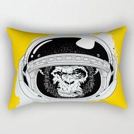 Monkey in white space Rectangular Pillow