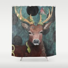 Finch Deer and Snake Shower Curtain