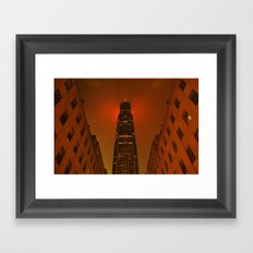 Rockefeller Center in the Rain Framed Art Print