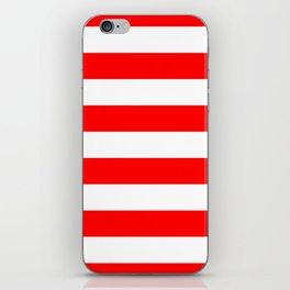 Australian Flag Red and White Wide Horizontal Cabana Tent Stripe iPhone Skin