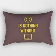 Power is nothing without Control Rectangular Pillow