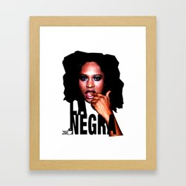 TOILET CLUB #lanegra Framed Art Print