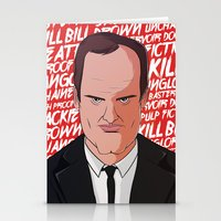 quentin tarantino Stationery Cards featuring Tarantino by Happy Motion