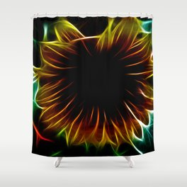 Electric Sunflower Shower Curtain