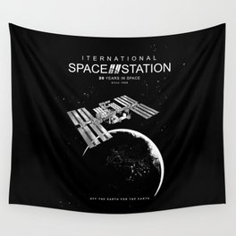 ISS-International Space Station-NSA-ESA-Soyuz-Space Shuttle-Astronomy Wall Tapestry