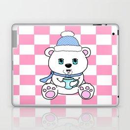Polar Bear Drinking Hot Chocolate Laptop & iPad Skin