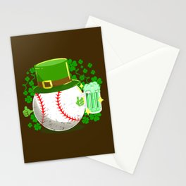 Baseball Ball St Paddys Day Stationery Cards