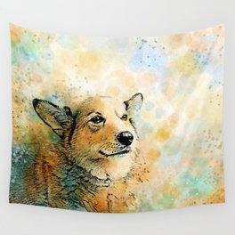Dog 143 Corgi Wall Tapestry