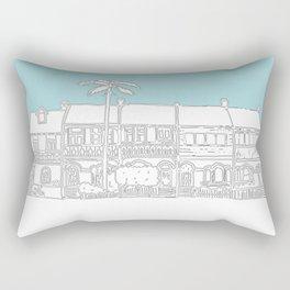 Camperdown Park Terraces - Blue Rectangular Pillow