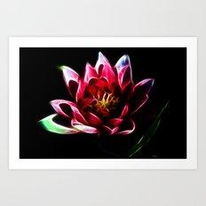 Fractal Lily Art Print