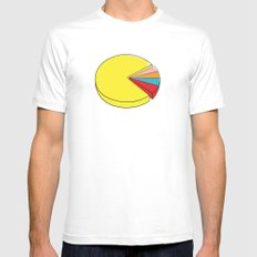 Epic Pie Chart White Mens Fitted Tee MEDIUM