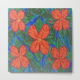 Luau Flower Print Metal Print