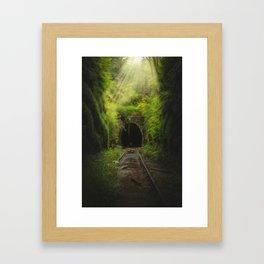 Green Lacuna Framed Art Print