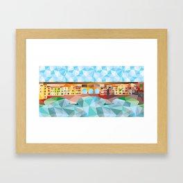 Ponte vecchio low poly Framed Art Print