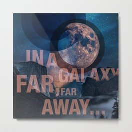 Off Center - In a Galaxy Metal Print