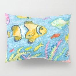 Crayon Fish #3 Pillow Sham