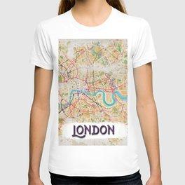 Watercolor Map of London T-shirt