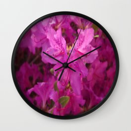Pink Flowers 1 Wall Clock